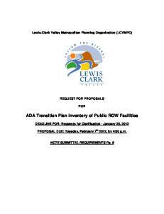 ADA Transition Plan Inventory of Public ROW Facilities