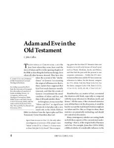 Adam and Eve in the Old Testament