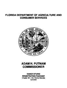 ADAM H. PUTNAM COMMISSIONER