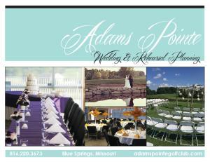 Adams Pointe. Wedding & Rehearsal Planning