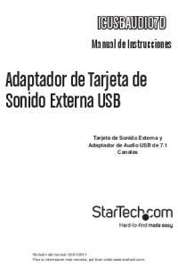 Adaptador de Tarjeta de Sonido Externa USB