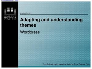 Adapting and understanding themes