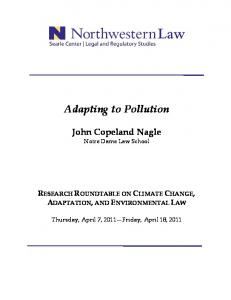 Adapting to Pollution
