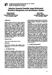 Adaptive Cascade Classifier based Multimodal Biometric Recognition and Identification System