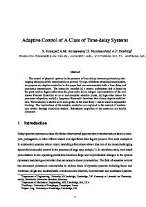 Adaptive Control of A Class of Time-delay Systems