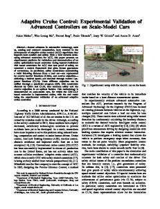 Adaptive Cruise Control: Experimental Validation of Advanced Controllers on Scale-Model Cars