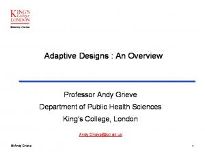 Adaptive Designs : An Overview