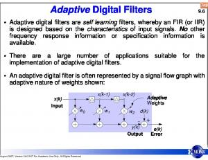 Adaptive Digital Filters 9.6