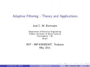 Adaptive Filtering - Theory and Applications