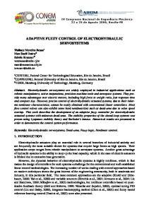 ADAPTIVE FUZZY CONTROL OF ELECTROHYDRAULIC SERVOSYSTEMS