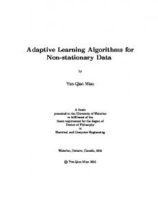 Adaptive Learning Algorithms for Non-stationary Data