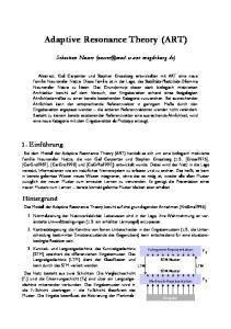 Adaptive Resonance Theory (ART)