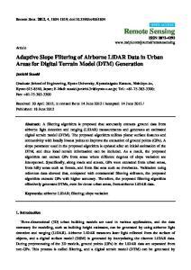 Adaptive Slope Filtering of Airborne LiDAR Data in Urban Areas for Digital Terrain Model (DTM) Generation