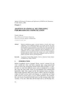 ADAPTIVE STATISTICAL MULTIPLEXING FOR BROADBAND COMMUNICATION