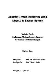 Adaptive Terrain Rendering using DirectX 11 Shader Pipeline