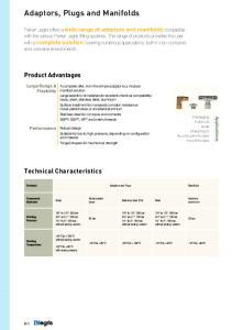 Adaptors, Plugs and Manifolds
