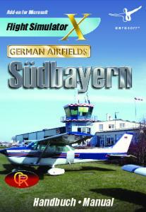 Add-on for Microsoft. Flight Simulator. Handbuch Manual