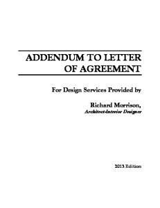 ADDENDUM TO LETTER OF AGREEMENT