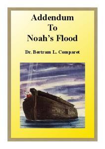 Addendum To Noah s Flood