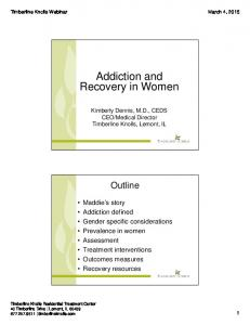 Addiction and Recovery in Women