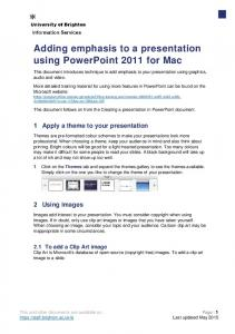 Adding emphasis to a presentation using PowerPoint 2011 for Mac