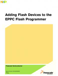 Adding Flash Devices to the EPPC Flash Programmer