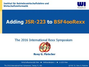 Adding JSR-223 to BSF4ooRexx