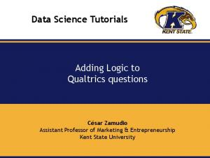 Adding Logic to Qualtrics = questions