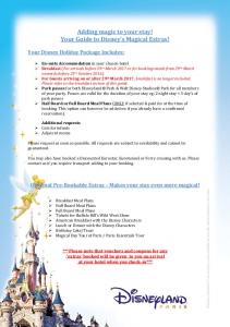 Adding magic to your stay! Your Guide to Disney s Magical Extras!