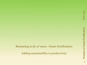 Adding sustainability to productivity