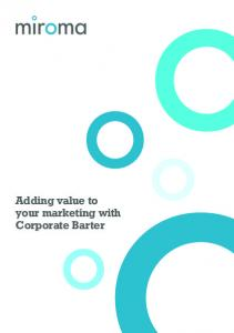 Adding value to your marketing with Corporate Barter