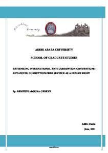 ADDIS ABABA UNIVERSITY SCHOOL OF GRADUATE STUDIES