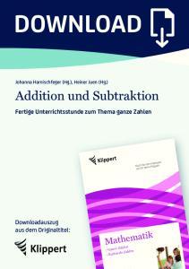 Addition und Subtraktion