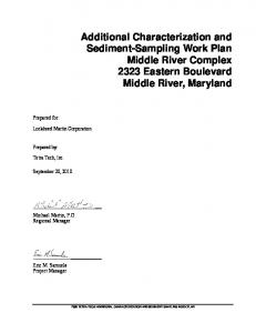 Additional Characterization and Sediment-Sampling Work Plan Middle River Complex 2323 Eastern Boulevard Middle River, Maryland