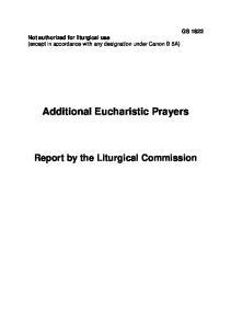 Additional Eucharistic Prayers