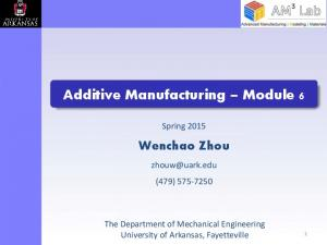 Additive Manufacturing Module 6