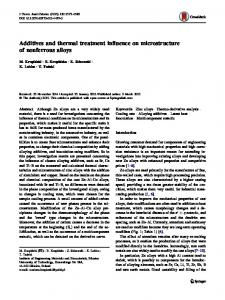 Additives and thermal treatment influence on microstructure of nonferrous alloys