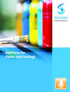 Additives for Paints and Coatings