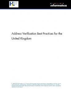 Address Verification Best Practices for the United Kingdom