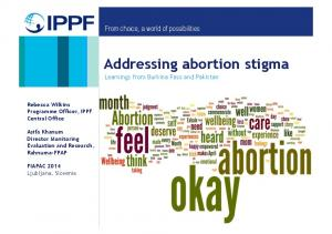 Addressing abortion stigma