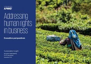 Addressing human rights in business