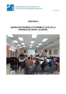 ADECARCHI (AGENCIA DE DESARROLLO ECONOMICO LOCAL DE LA PROVINCIA DE CARCHI - ECUADOR)