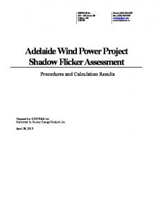 Adelaide Wind Power Project Shadow Flicker Assessment