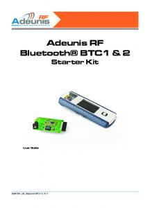 Adeunis RF Bluetooth BTC1 & 2 Starter Kit