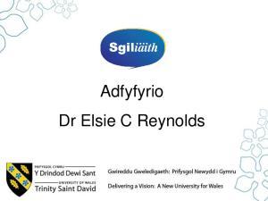 Adfyfyrio Dr Elsie C Reynolds