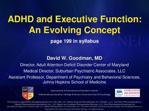 ADHD and Executive Function: An Evolving Concept