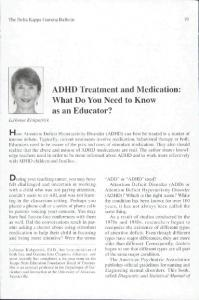 ADHD Treatment and Medication: What Do You Need to Know as an Educator?
