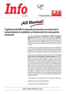 ADI Ebentual! >osasungitza