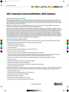 ADI s Automatic External Defibrillator (AED) Solutions