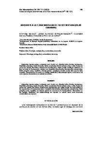 ADICIONES A LA FLORA VASCULAR DE FUERTEVENTURA (ISLAS CANARIAS)